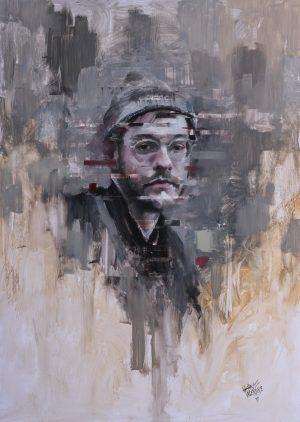 White Noise -Oil on panel
